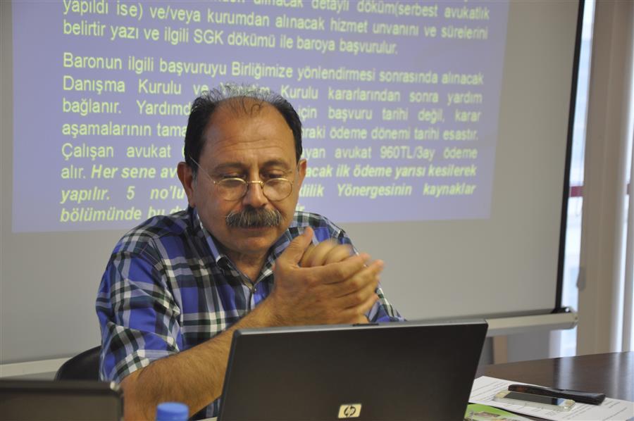 Avukatların Sosyal Güvenliği ve TBB Sağlık ve Sosyal Yardım Fonu Yardımı Konferansı Yapıldı