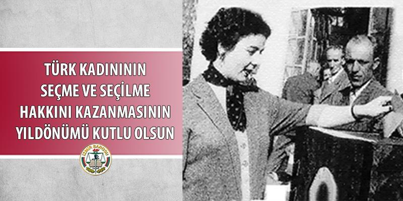5 Aralık Kadının Seçme ve Seçilme Hakları Günü