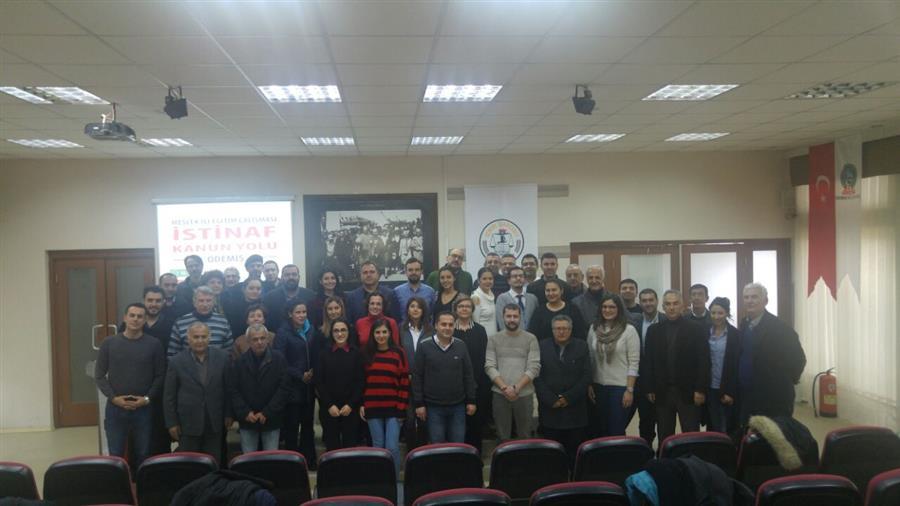İzmir Barosu Eğitim Çalışmalarına İlçelerde Devam Ediyor