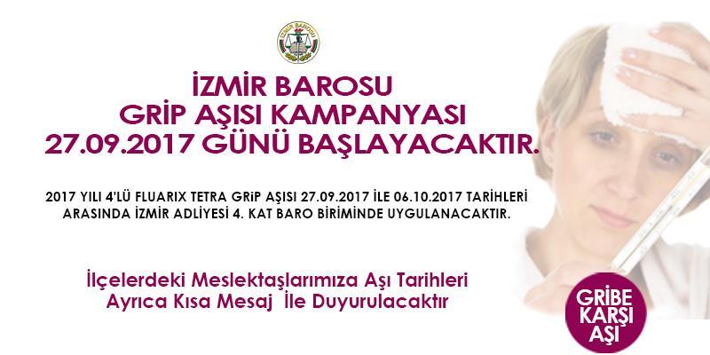 İzmir Barosu Grip Aşısı Kampanyası