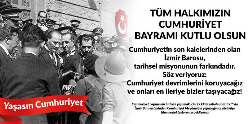 Tüm Halkımızın Cumhuriyet Bayramı Kutlu Olsun!
