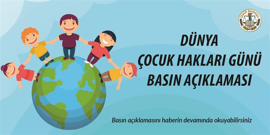 20 Kasım Dünya Çocuk Hakları Günü Basın Açıklaması