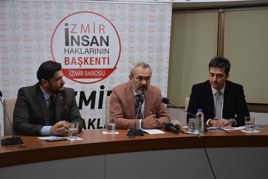 İzmir İnsan Haklarının Başkenti Kampanyası Basın Toplantısı Yapıldı