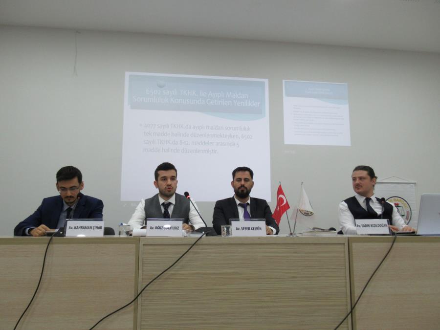 Menemen'de Tüketici Hukukunun Başlıca Sorunları Konferansı Düzenlendi