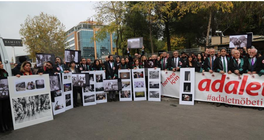 Adalet Nöbetçileri Diyarbakır'daydı