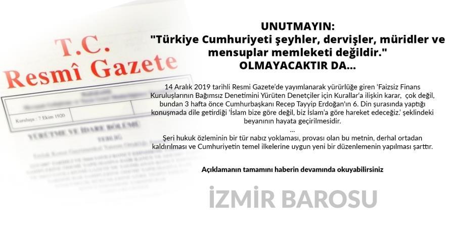 """UNUTMAYIN: """"Türkiye Cumhuriyeti şeyhler, dervişler, müridler ve mensuplar memleketi değildir."""" OLMAYACAKTIR DA..."""