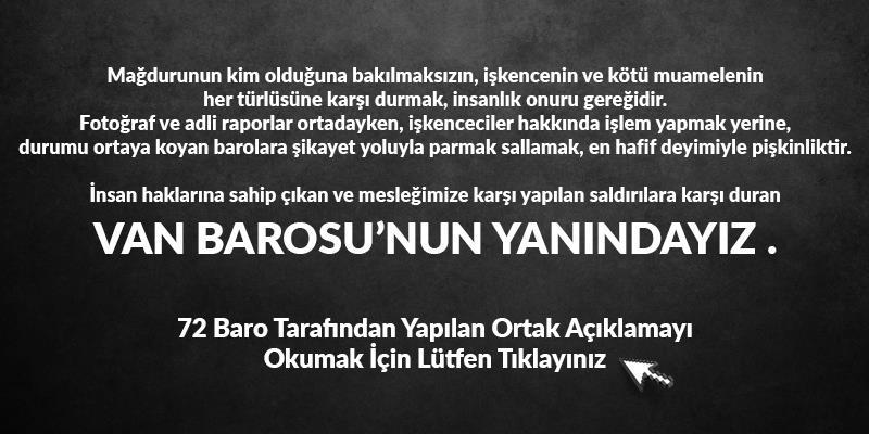 Van Barosu'nun Yanındayız