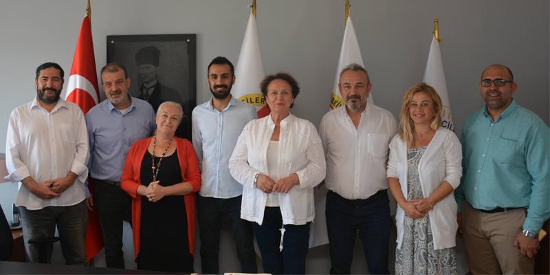 Baro Başkanımız Av. Özkan Yücel İzmir Gazeteciler Cemiyeti'ni Ziyaret Etti