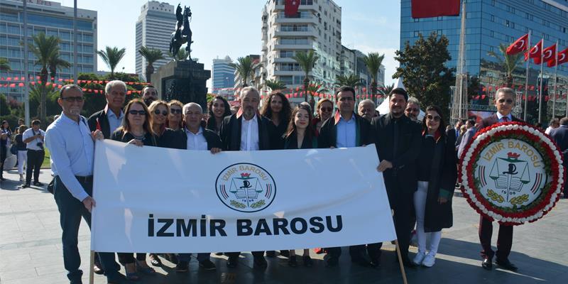 İzmir Barosu, İzmir'in Düşman İşgalinden Kurtuluşunun 97. Yıldönümünü Coşkuyla Kutladı.
