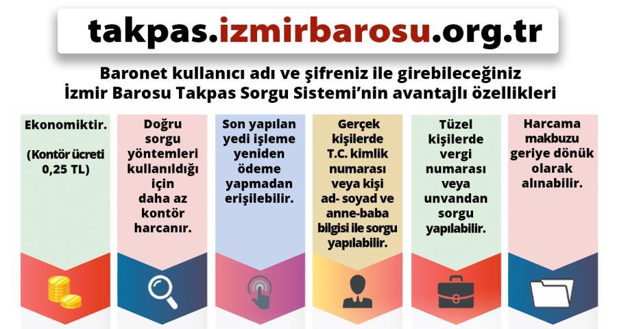 İzmir Barosu TAKPAS Sorgu Sistemi Hizmete Girmiştir