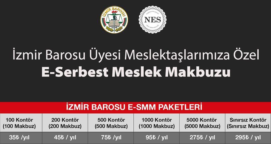 İzmir Barosu Üyesi Meslektaşlarımıza Özel E-Serbest Meslek Makbuzu