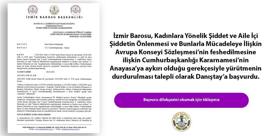 İzmir Barosu, İstanbul Sözleşmesi