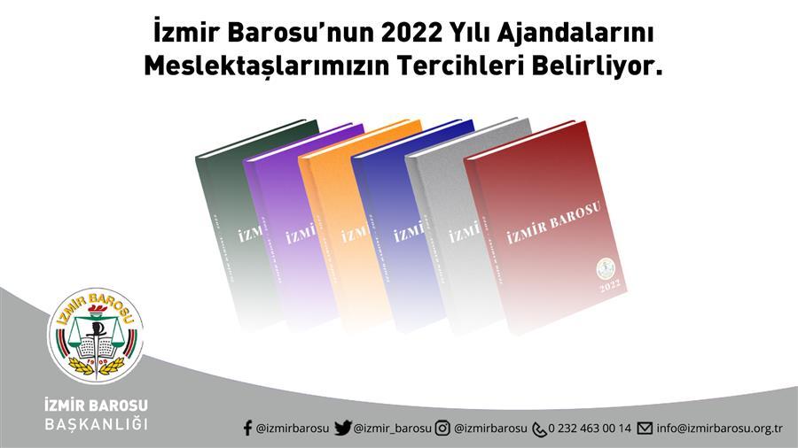 İzmir Barosu 2022 Yılı Ajandaları